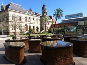 Adelaide s.a. museum water fountain