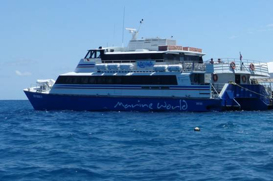 catamaran boat for the great barrier reef