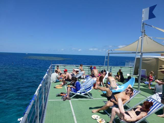 sun deck at great barrier reef