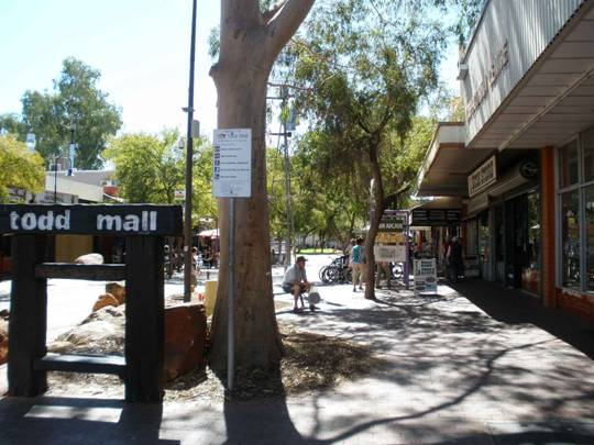 Todd mall in Alice Springs