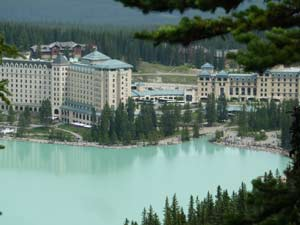 Chateau Lake Louise hotel in the Rockies