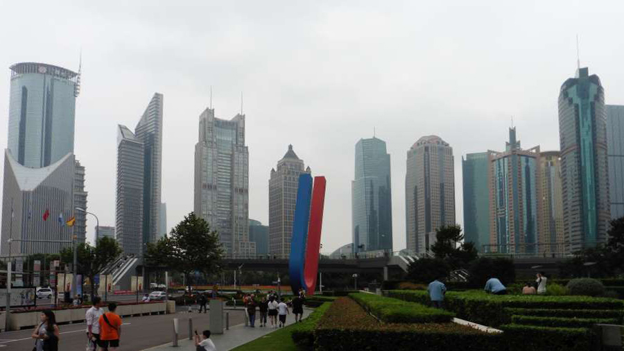 Shanghai financial district