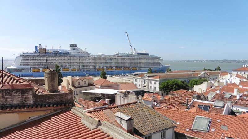 Anthem of the Seas ship in Lisbon