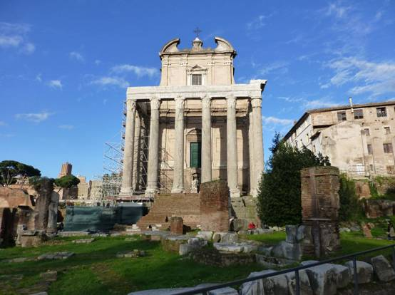 temple of antoninus and faustina - Rome