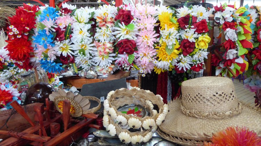 Flower bouquets in the market