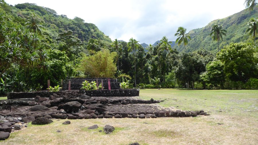 Polynesian temple in nature