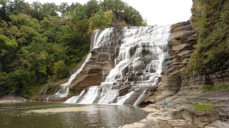 A Waterfall in Finger Lakes