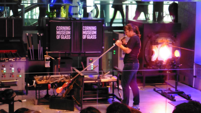 Glassblowing at the Corning Museum