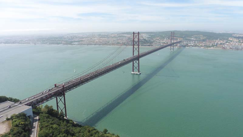 The 25th of October Bridge in Lisbon